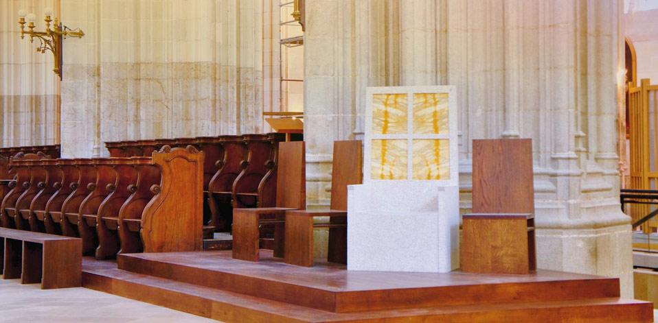 La cathèdre de la cathédrale de Nantes