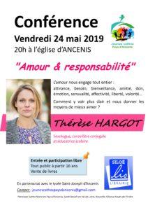 Conférence de Thérèse HARGOT