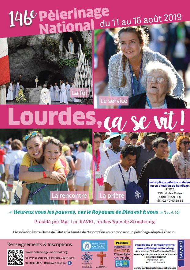 Calendrier Des Pelerinages Lourdes 2019.146e Pelerinage National A Lourdes Du 11 Au 16 Aout 2019