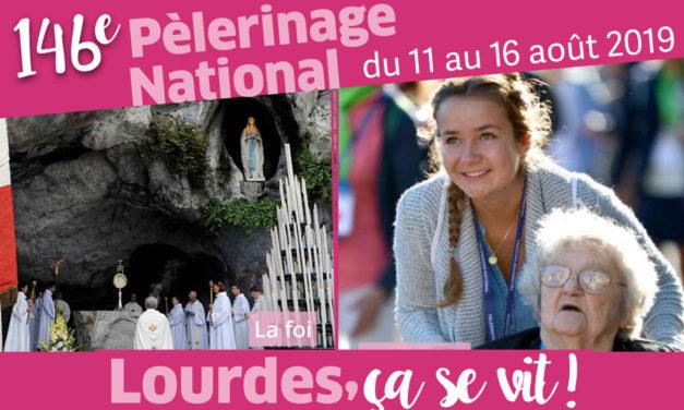 146e pèlerinage national à Lourdes du 11 au 16 août 2019