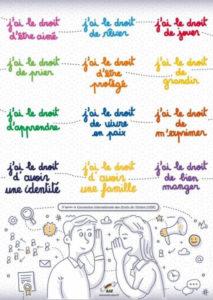 Affiche des droits de l'enfant