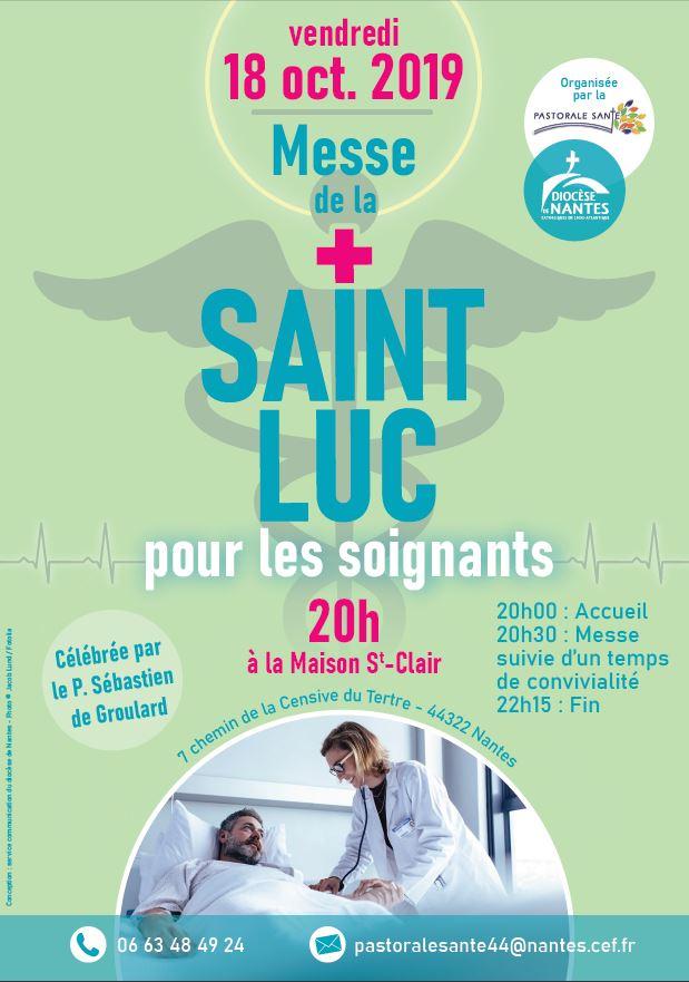 Saint Lucas Calendrier.Messe De La Saint Luc Pour Les Professionnels De La Sante