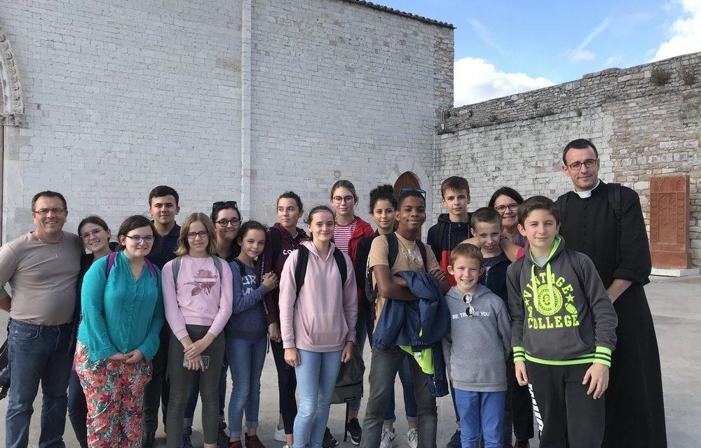 Pélé à Rome pour des jeunes de Châteaubriant