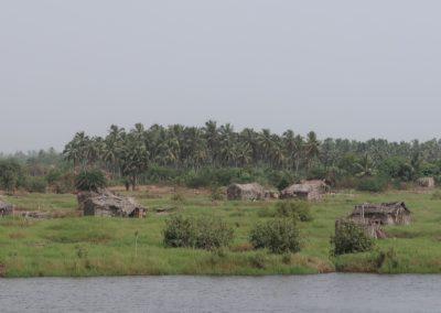 Villages le long la rivière Okpara