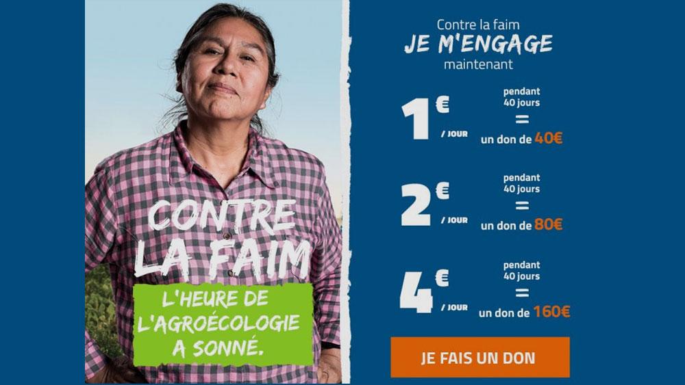 Collecte du CCFD-Terre Solidaire du dimanche 29 mars 2020