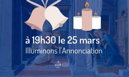 Fête de l'Annonciation – mercredi 25 mars 2020