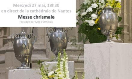 Messe Chrismale à la Cathédrale de Nantes