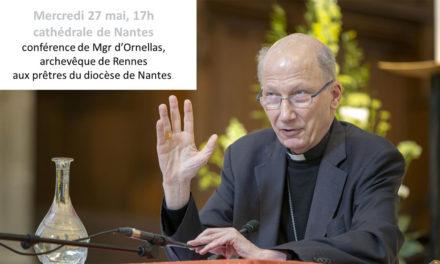 27 mai 2020 : Conférence de Mgr d'Ornellas