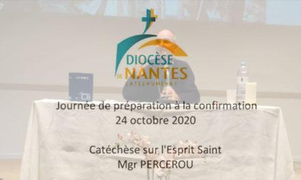 Catéchèse Mgr PERCEROU, journée de préparation à la confirmation