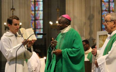 Mgr N'Koué à Nantes