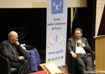 Mgr Pierre d' Ornellas et Jean-François Bensahel, co-auteurs de « Juifs et chrétiens, frères à l'évidence ».