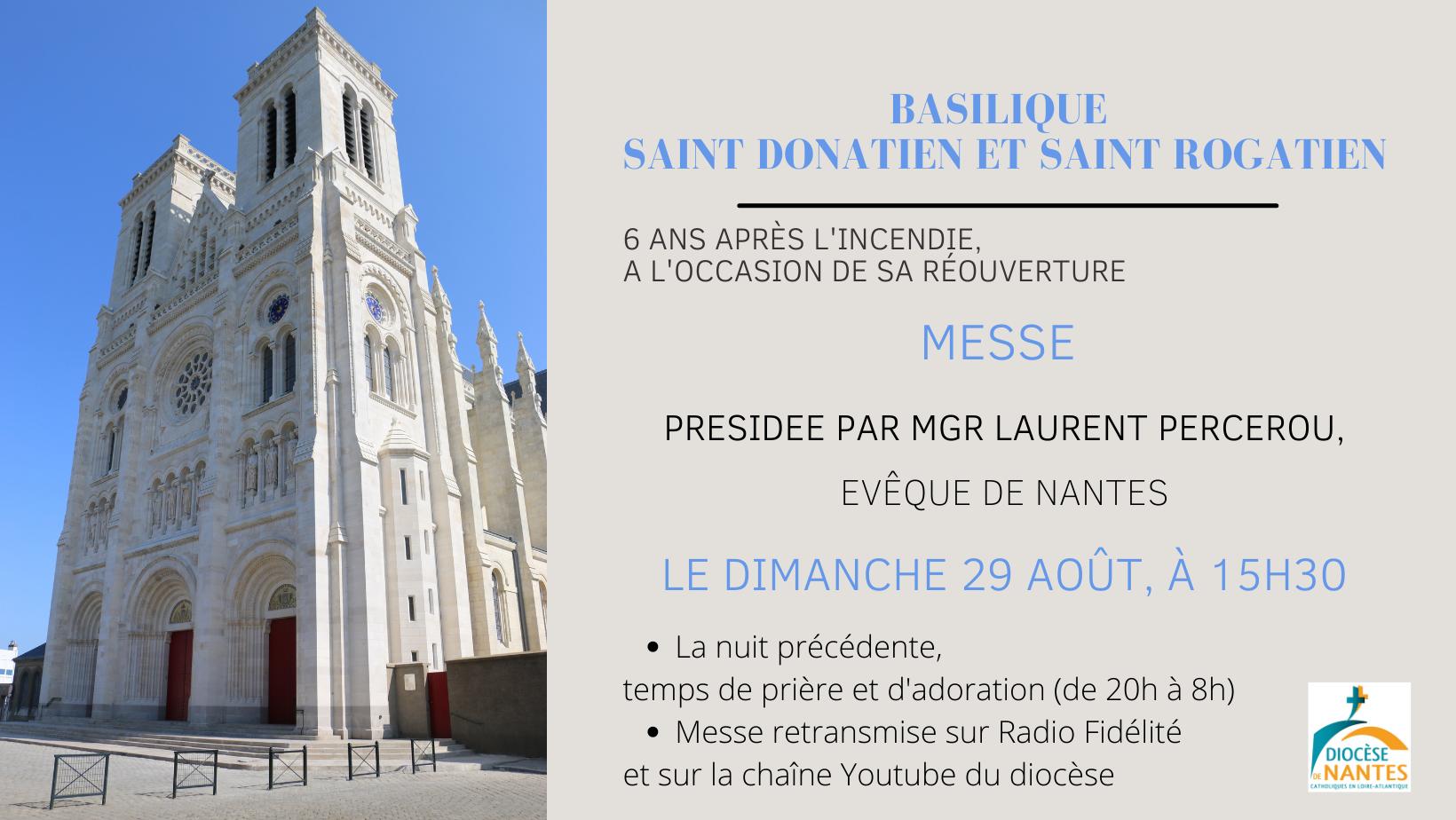Réouverture basilique saint Donatien et saint Rogatien