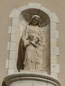 La statue de sainte Anne
