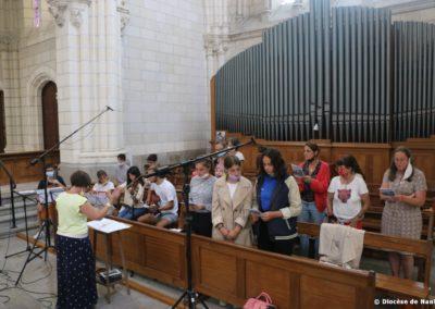La chorale et les musiciens du secteur